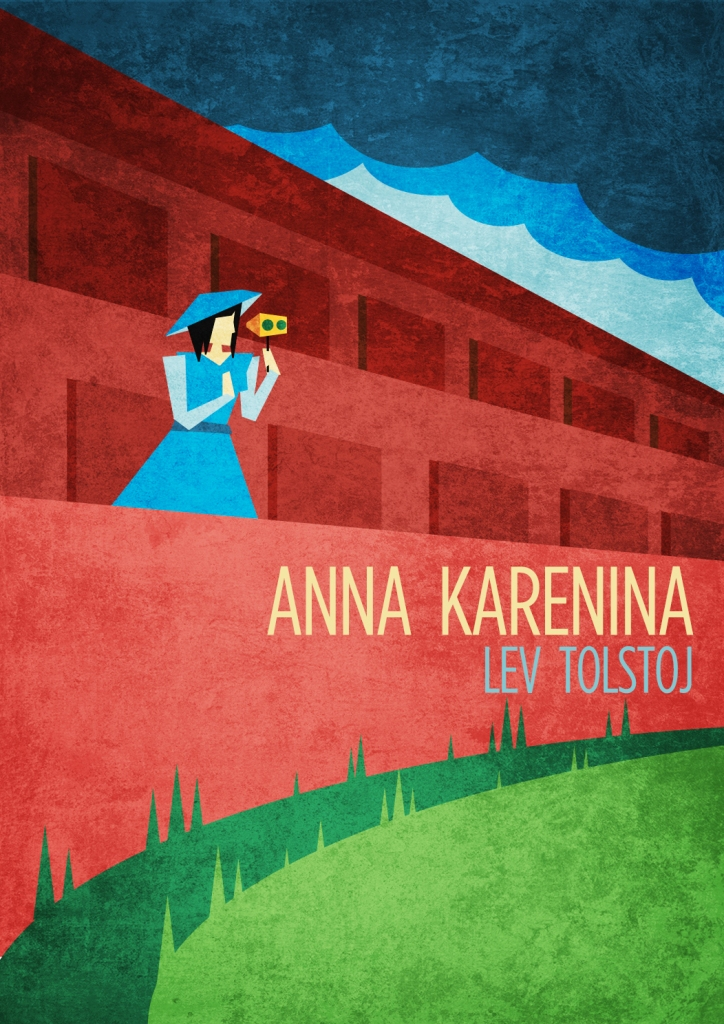 anna karenina book covervector art illustration graphics design digital minimal design graphic design illustrator grafica denis bettio