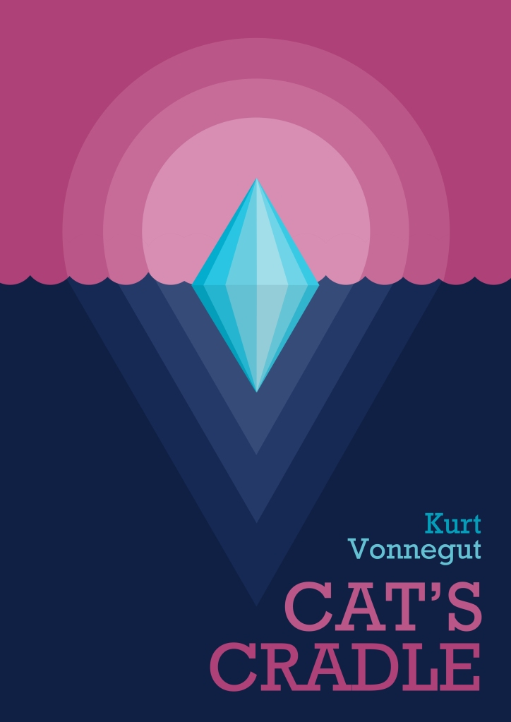 Cat's cradle kurt vonnegut book cover vector art illustration graphics design digital minimal design graphic design illustrator grafica denis bettio