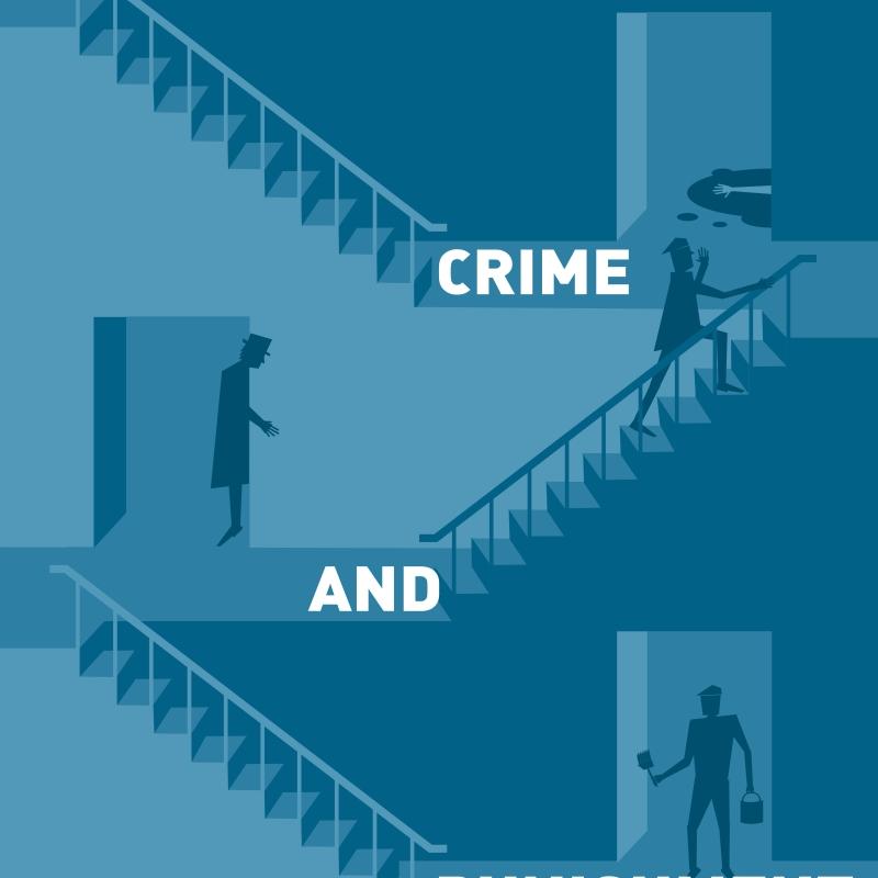 crime and punishment fedor dostoevskij book cover vector art illustration graphics design isometric digital minimal denis bettio