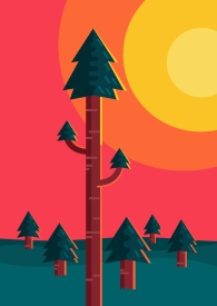 house woods 3d vector art illustration graphics design isometric digital minimal denis bettio