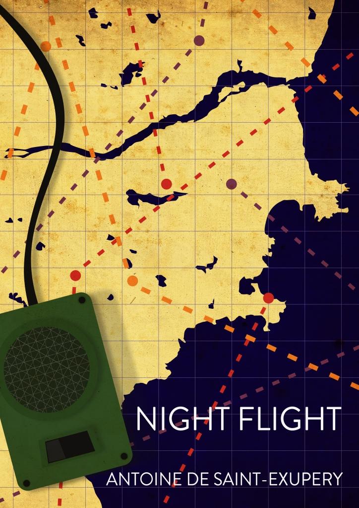night flight antoine de saint exupery book cover vector art illustration graphics design digital minimal design graphic design illustrator grafica denis bettio