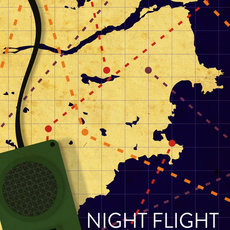 night flight antoine de saint exupery book cover vector art illustration graphics design digital minimal design graphic design illustrator grafica denis bettio