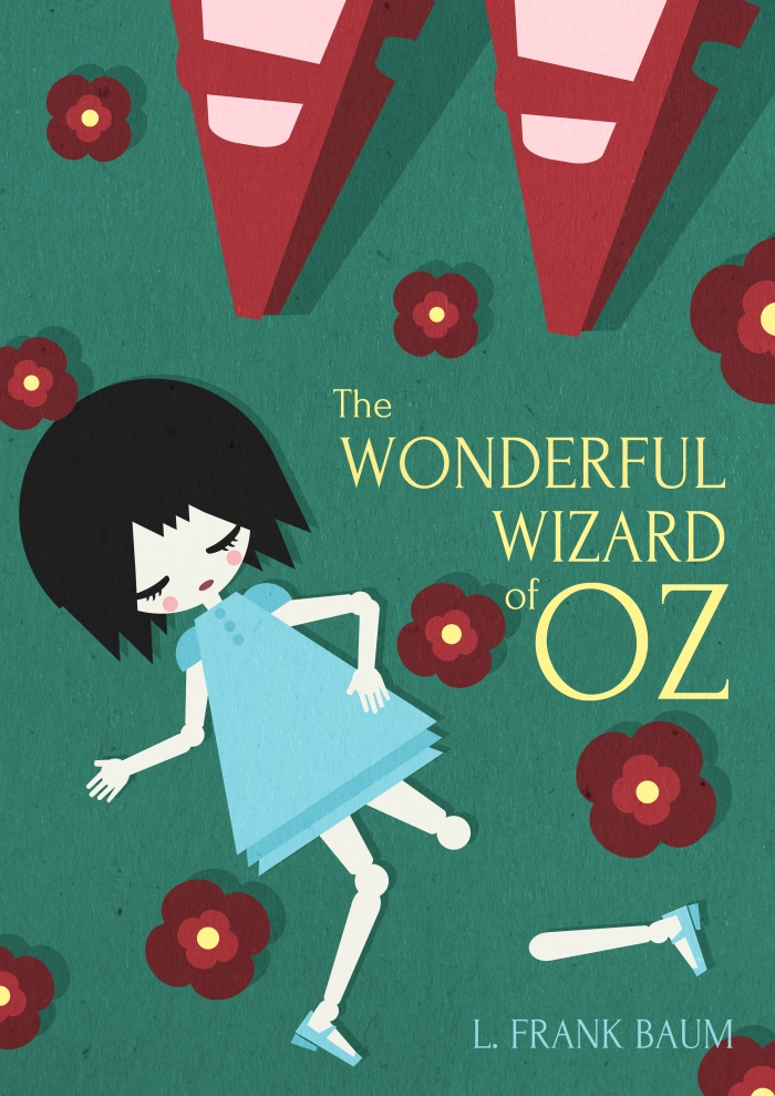 wonderful wizard oz lyman frank baum book cover vector art illustration graphics design digital minimal design graphic design illustrator grafica denis bettio