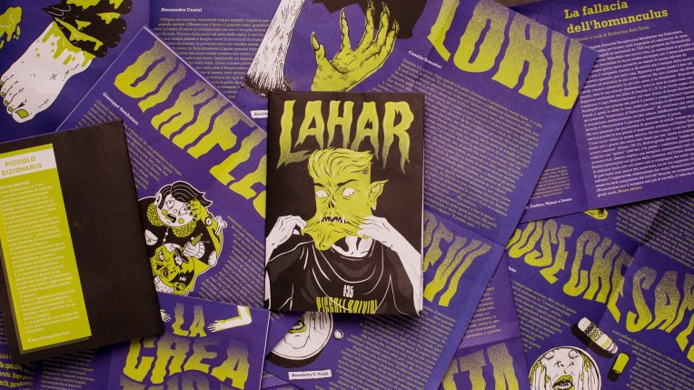 lahar magazine self published independent indie hipster horror horrorstory punk zombie illustration