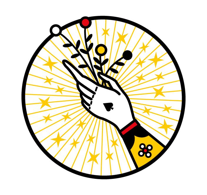 hand playing cards joker magic byke cardistry design