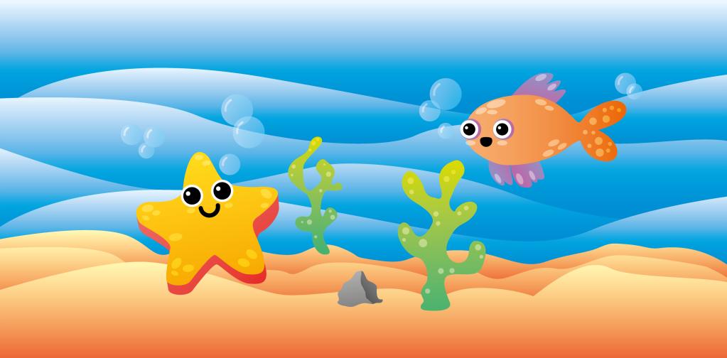 illustration illustrator design graphic product game toy play vector art digital illustration illustrator illustrazione fish octopus jellyfish underwater