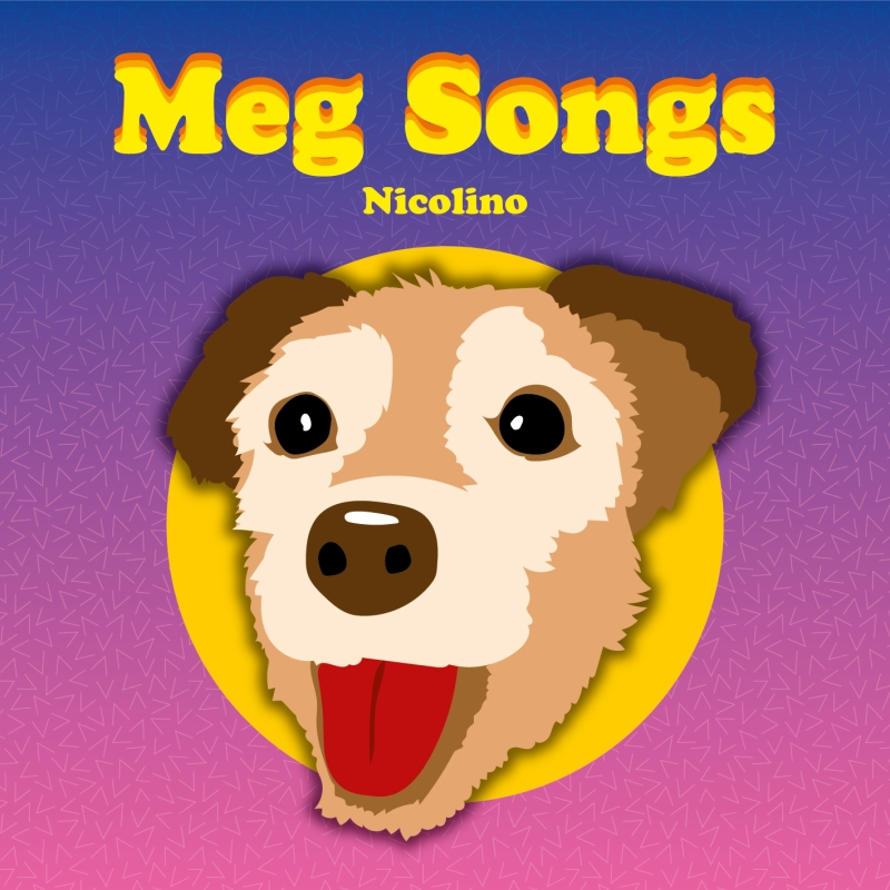 cd cover art music illustration dog meg songs illustrator vector