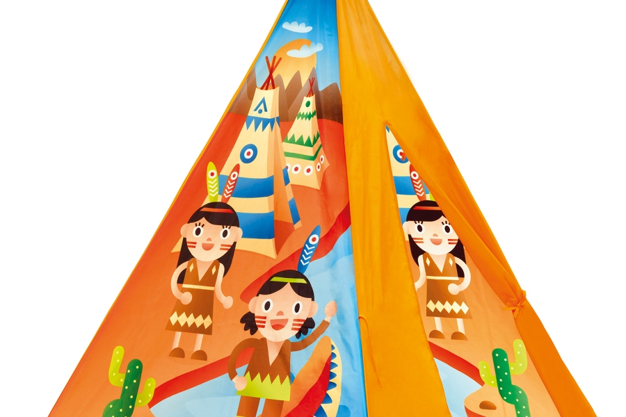 teepee tepee tent canoa boat playing play toy product design illustration game vector digital native american desert cactus apachee illustration illustrator