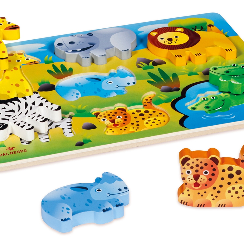 wooden toys game play safari wild animals lion zebra hippo giraffe crocodile design product graphics illustration