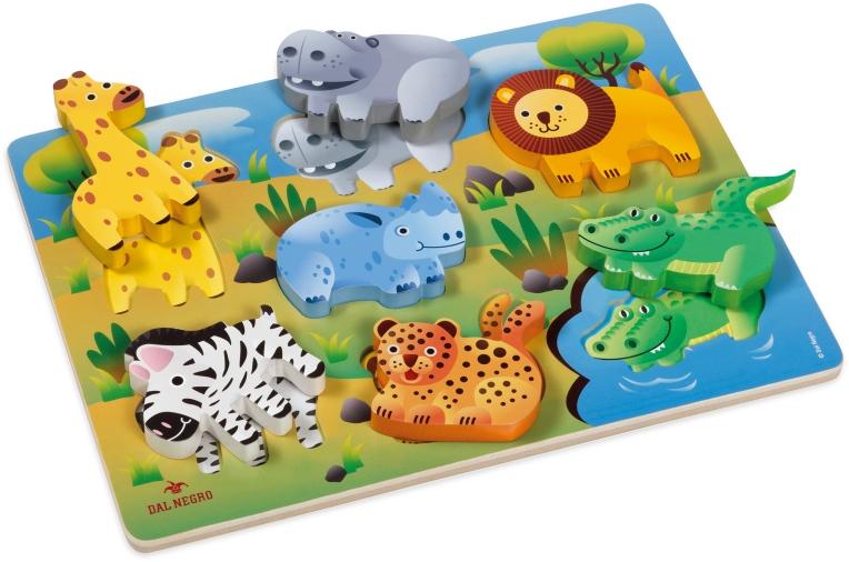 wooden toys game play safari wild animals lion zebra hippo giraffe crocodile design product graphics illustration